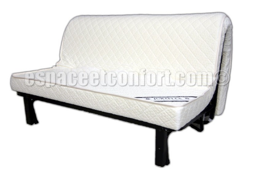 structure bz avec matelas la carte. Black Bedroom Furniture Sets. Home Design Ideas