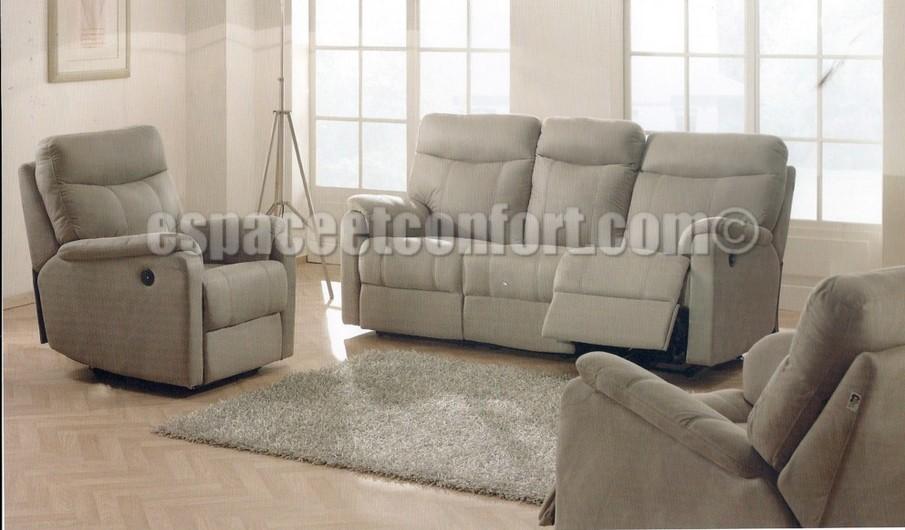 Canap relax lectrique como en microfibre vento - Salon relax electrique microfibre ...