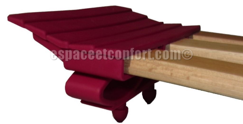 embout articul pour latte triples 3x25 mm 2 tenons clipper. Black Bedroom Furniture Sets. Home Design Ideas