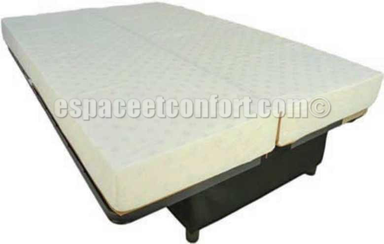 structure clic clac avec matelas sofaconfort 14 cm. Black Bedroom Furniture Sets. Home Design Ideas