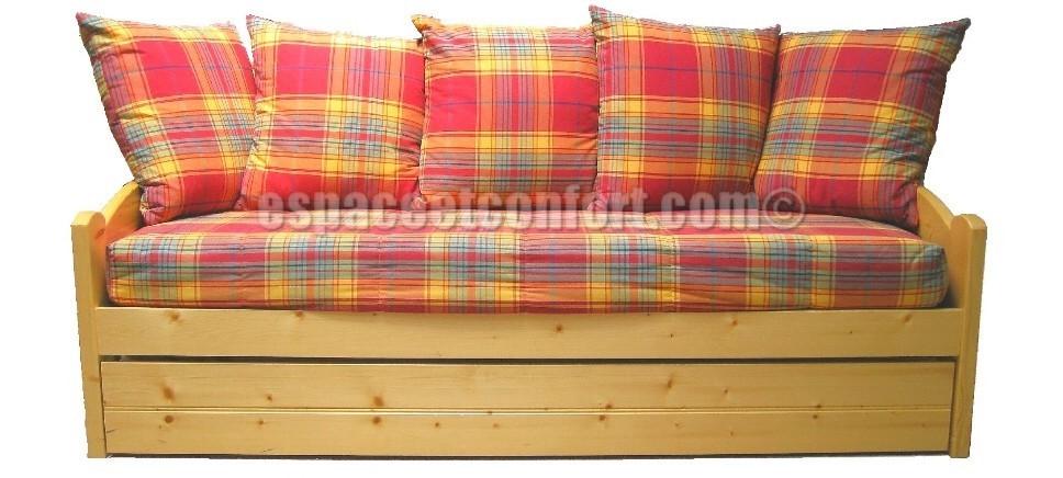 banquette lit gigogne alpha. Black Bedroom Furniture Sets. Home Design Ideas