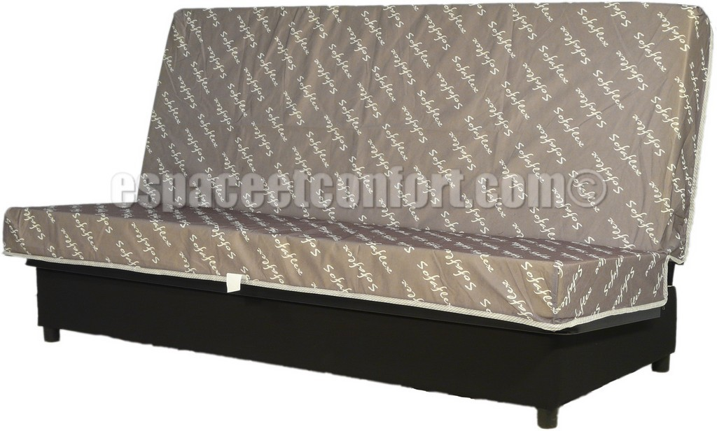 structure clic clac avec matelas sofaflex. Black Bedroom Furniture Sets. Home Design Ideas
