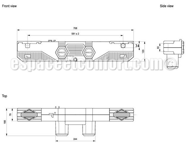 Moteur pour sommier lectrique tpr okimat avec axes de 34 mm - Moteur lit electrique ...