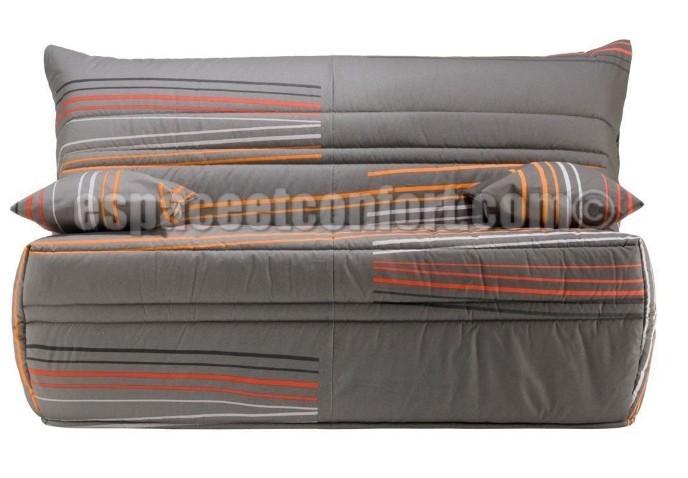 Pack de rhabillage pour banquette bz en 140 cm tissu gris - Housse bz 140 conforama ...