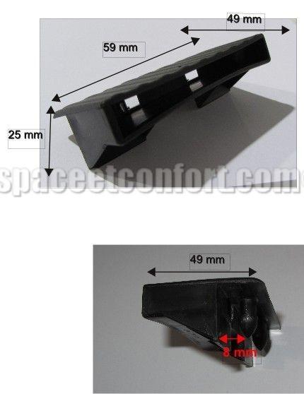 embouts pour latte de 53 mm flatcap r o 2 tenons clipper. Black Bedroom Furniture Sets. Home Design Ideas