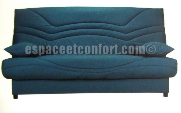 pack de rhabillage pour clic clac en 130x190 cm tissu bleu canard 405. Black Bedroom Furniture Sets. Home Design Ideas