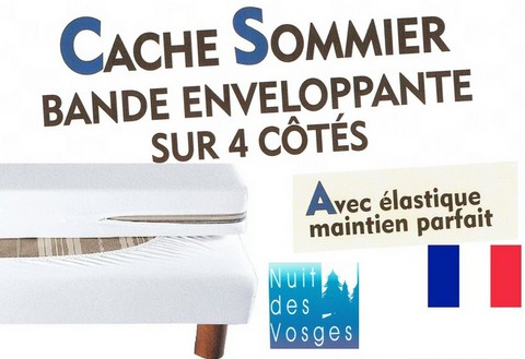 Cache sommier r f cotoval for Housse cache sommier 160x200