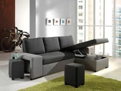 canap dangle convertible laly avec chaise longue coffre et 2 poufs intgrs dans laccoudoirs - Canape Avec Pouf Integre