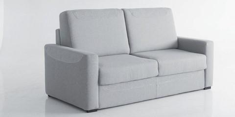 Canap lit rapide vivaldi microfibre uni for Canape avec dossier haut