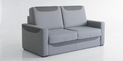 Canap lit rapide vivaldi bi colore for Canape avec dossier haut
