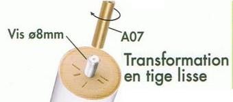 Adaptateur Pour Vis 8 Mm Vers Tige Lisse