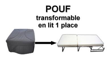 pouf lit couchage 70x190 cm presto. Black Bedroom Furniture Sets. Home Design Ideas