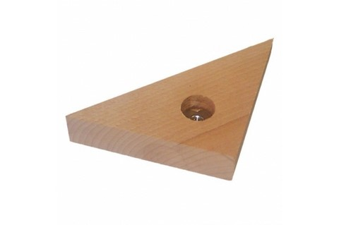 masse d'angle triangulaire avec insert 8 mm