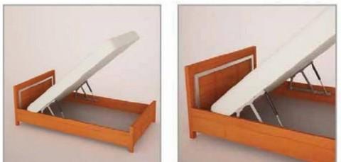 paire de m canismes assist s par v rins air comprim syst me pour lit coffre. Black Bedroom Furniture Sets. Home Design Ideas