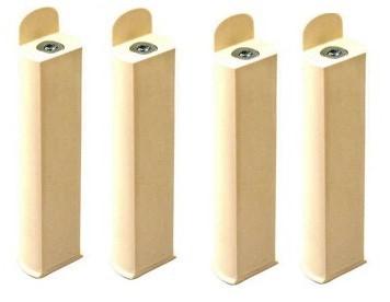 jeux de 4 pieds de sommier pvc ivoire. Black Bedroom Furniture Sets. Home Design Ideas