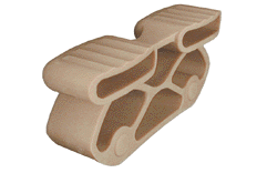 t408 2 embout articul pour latte double 2x38 mm fixer sur tenons p34. Black Bedroom Furniture Sets. Home Design Ideas